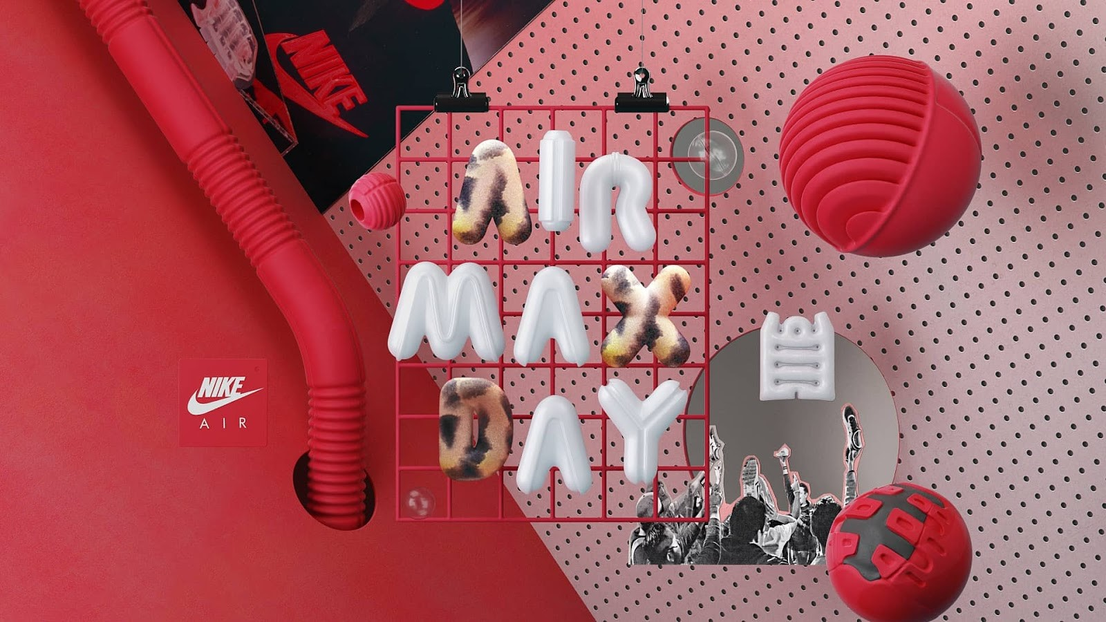 3D typeface for Nike's Air Max Day