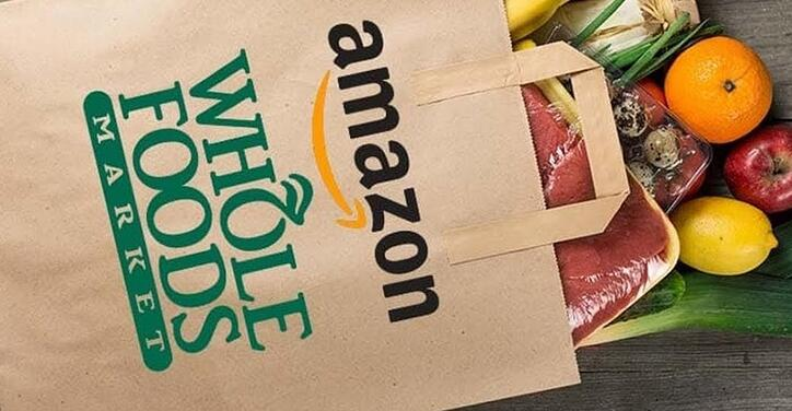 Amazon Whole Foods Prime Now grocery bag