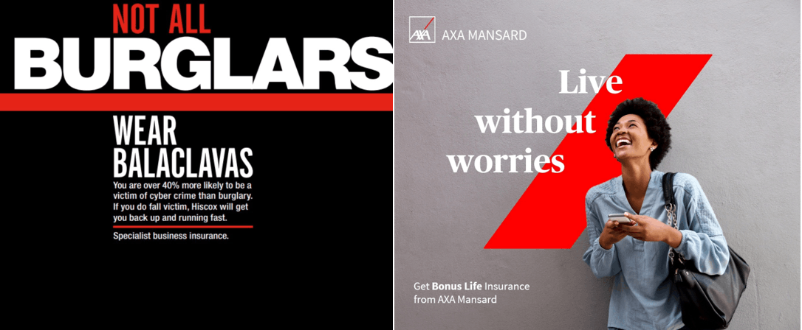 example of branding axa mansard
