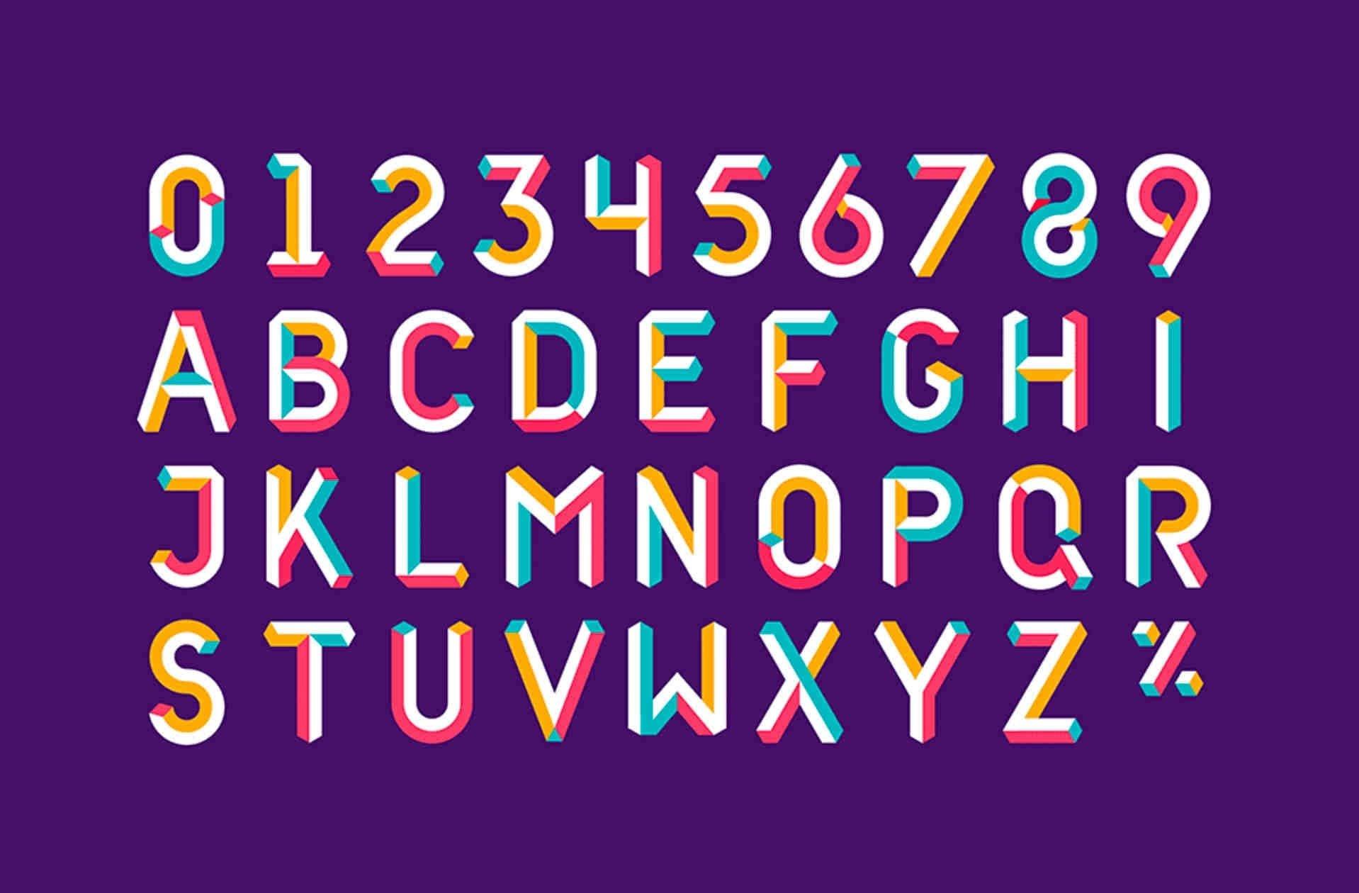 corporate identity custom font example