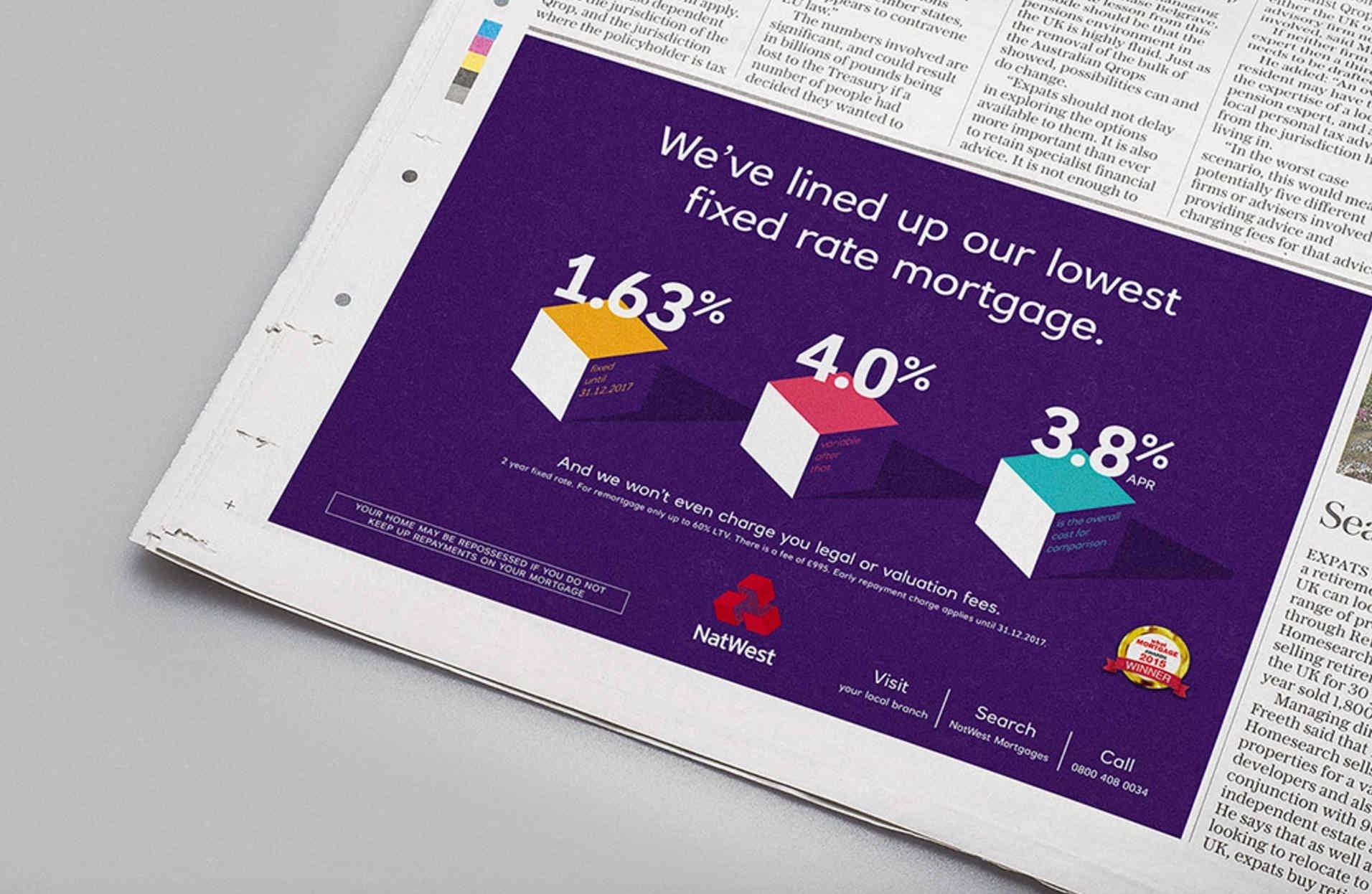 corporate identity printed advertisement