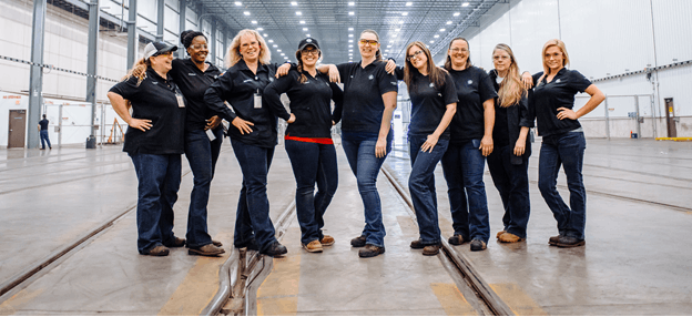 women working at General Electric