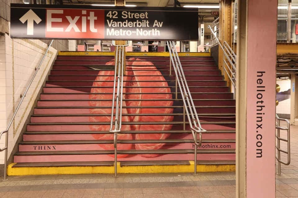 subway station branding commercial Thinx
