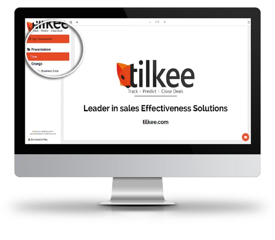 impression Tilkee sales tool