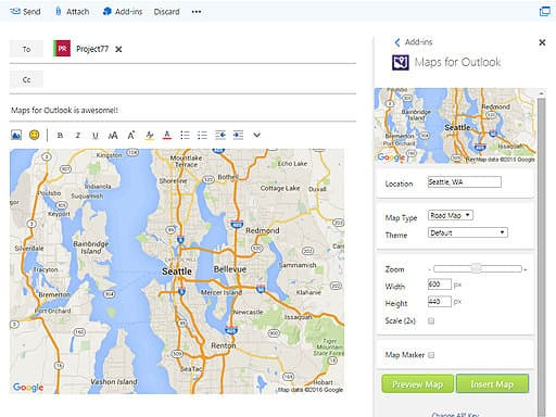 impression maps add-in outlook