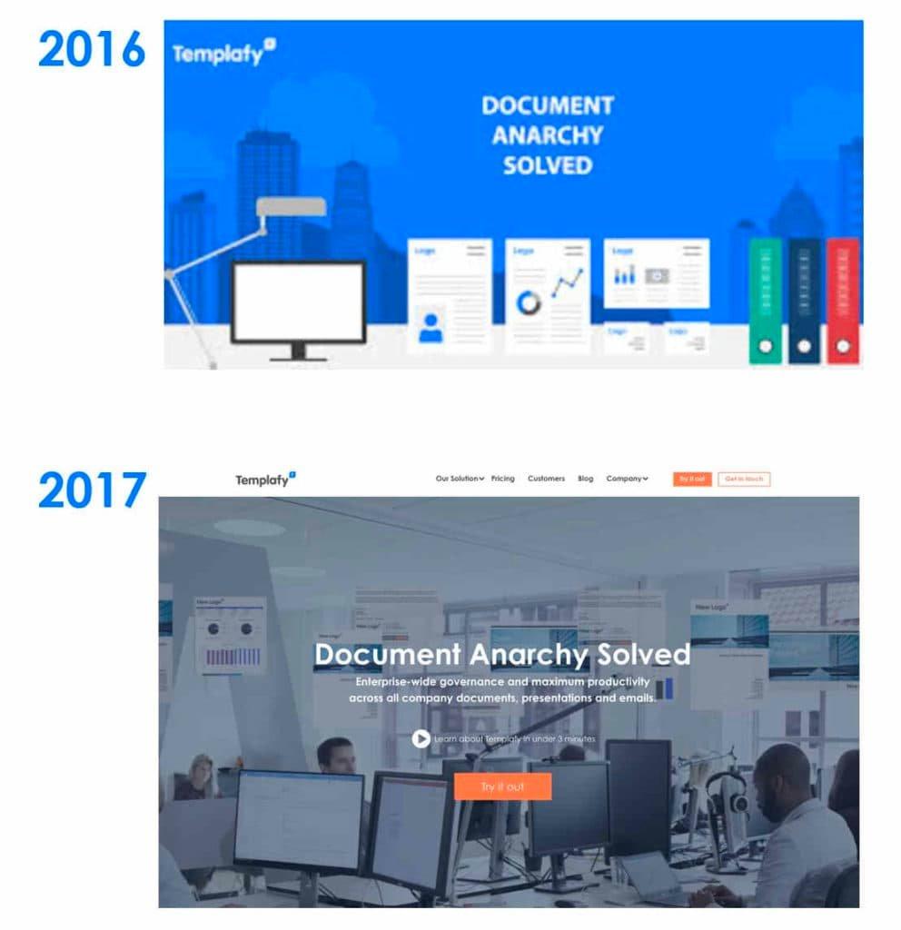 brand identity Templafy 2016-2017