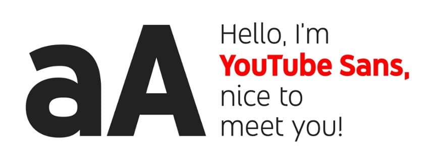corporate typeface font of youtube
