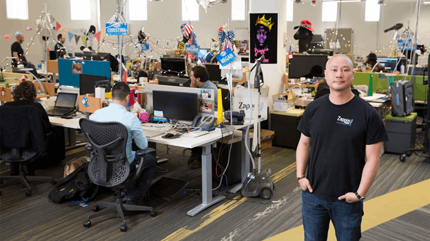 Zappos office with Tony Hsieh