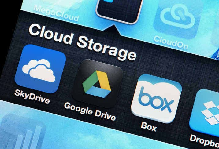 cloud storage applications on mobile device