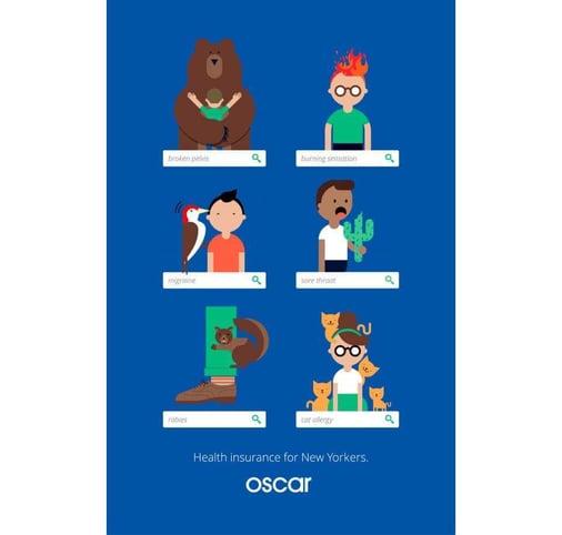 branding ad Oscar Health insurance