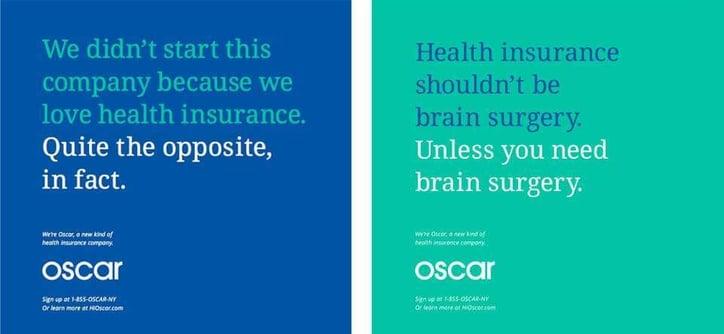 branding example Oscar Health