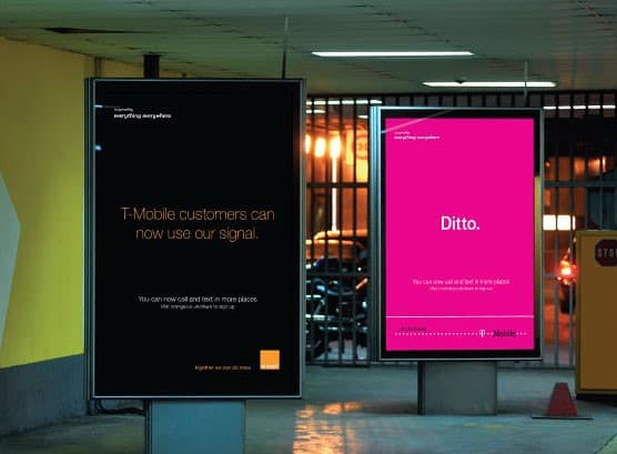commercial boards rebranding mergers orange and t-mobile