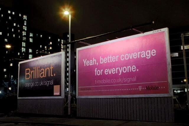billboard mergers t-mobile and orange rebranding