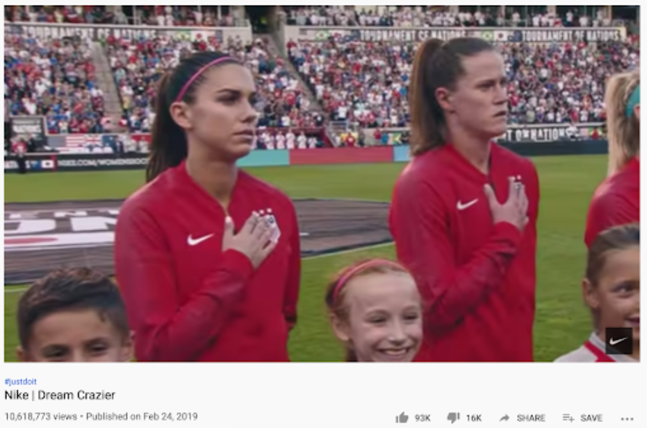 Nike's dream crazier video as an example of hero brand archetype