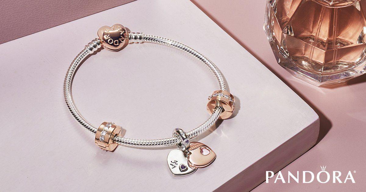 Pandora jewerly on pink platform