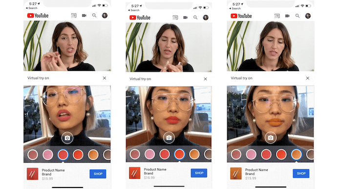make up tutorial with AR lipstick testing